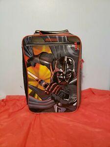 """Darth Vader Star Wars 18"""" Case Rolling Carry-On Bag Travel School Backpack"""
