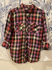 Heritage 1981 - Men's Checkered Plaid Button Down Shirt, Size Medium