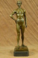 Hot Cast Detailed Roman Emperor God by Kesk Bronze Sculpture Statue Lost Wax Art