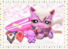 ��Authentic Littlest Pet Shop Lps #2271 Angora Longhair Cat Sparkle Glitter��