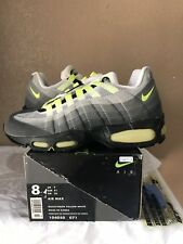 low priced b7995 cef38 DS 1995 Nike Air Max 95 OG Original Size 8 Black Neon Yellow White 96 98
