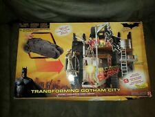 BATMAN BEGINS Transforming Gotham City Playset Batmobile Mattel subway, NEW