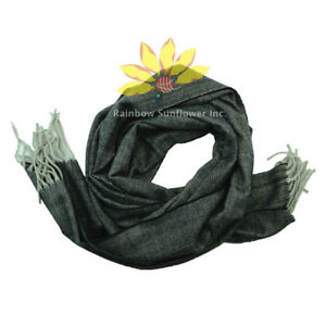 Men Women unisex 100%CASHMERE Scarf Plain Thick stripe Soft Warm Wool SCOTLAND