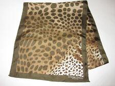 "100% Silk Adrienne Landau Studio Womens Brown Leopard Print 52.5"" Scarf"