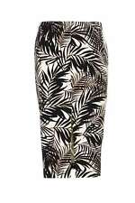 Palm Print Pencil Skirt 10 (See matching top listed seperately)