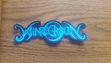 WINTERSUN,SEW ON BLUE EMBROIDERED PATCH