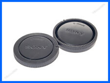 Lens Cap Set Sony E-Mount Grey NEX Body + Rear Cap A7 A7R NEX7 A6000 A5000