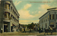 Antique Postcard shows corner of Aultman and Murray Streets in Ely, Nevada