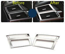Steel Interior side air condition vent cover trim 2pcs For BMW X5 E70 2007-2013