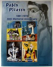 2003 MNH GRENADA GRENADINES PICASSO STAMP SHEET ART NUDE JACQUELINE WITH FLOWER