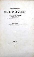 Libro Monumento Storico Contenente Mille Avvenimenti Storia d'Italia dal 1859