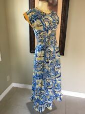Hale Hawaii Vintage 50's 60's Hawaiian Traditional Size Small Dress