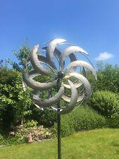 XXL Windrad NEO ArtFerro Windspiel Gartenstecker Gartendeko Metall  * H216 Ø51