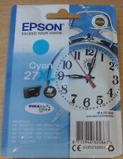GENUINE EPSON 27XL Cyan (blue) cartridge ORIGINAL T2712 ALARM CLOCK ink (2020)