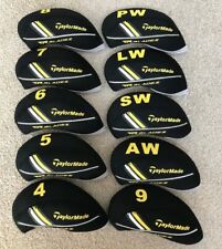 10 x Black Neoprene Taylormade RBZ RocketBladez Golf Club Iron Covers HeadCovers