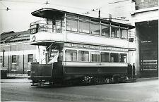 6D300D RP 1950s MANCHESTER TRAMWAYS LAST OPEN BUS CAR #686 BIRMFIELDS ROAD DEPOT