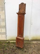 Coffre d'horloge comtoise droite époque empire bois fruitier marqueté