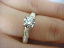 14K TWO TONE GOLD 0.15 CARAT DIAMOND ENGAGEMENT RING  3.5 GRAMS SIZE 9