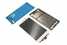 Sony Xperia Z3 Plus Z4 E6553 LCD Display Touchscreen Original Rahmen Kleber weiß