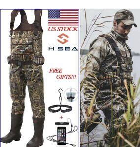 HISEA Neoprene Hunting  Rubber Bootfoot Waders 600G Insulated - 11