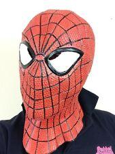 Super-héros spider latex masque overhead web slinger man super hero fancy dress