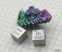 1 Piece 99.99% High Purity Bismuth Bi 10mm Cube Carved Element Periodic Table