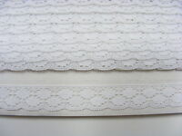 Flat Lace White  - 20 metres (228)