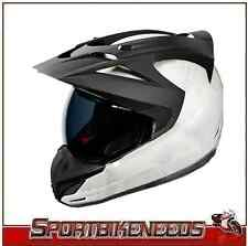Icon Variant Construct Helmet NEW Large L LG White Black w/ Dark Smoke Shield