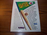 1991 SEGA CLUTCH HITTER VIDEO GAME FLYER BROCHURE