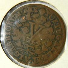 PORTUGAL, Jose I: scarce 1764 copper 5 Reis, about F