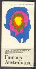 Australia #454a - #457a Vf Mint Booklet