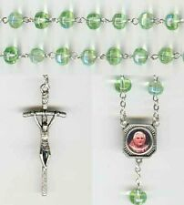 Pope Benedict XVI Resignation Rosary - Crystal Chartreuse