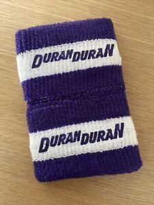 Original 1980s Duran Duran Sweatbands Wristbands Vintage Music Memorabilia
