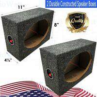 2x  Style 6 x 9 Inch Car Audio Speaker Box Enclosures, 2 Speakers
