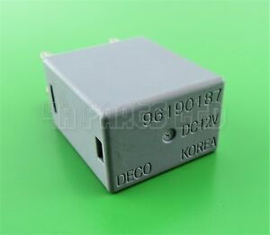 Daewoo Suzuki Chevrolet Multi-Purpose Grey Relay 96190187 4-Pin DECO Korea