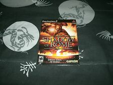 Shadow of Rome Demo Disc Brand New Factory Sealed For Sony Playstation 2
