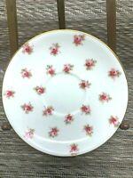 Aynsley Bone China Corset  Saucer White Pink Roses England