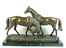 MAJESTIC BRONZE CLASSIC HORSES, SIGNED: I. CARVIN