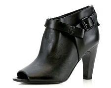 Signature By Vince Camuto NIKOLETTA Black Leather Peep Toe Booties 4793 Size 7.5