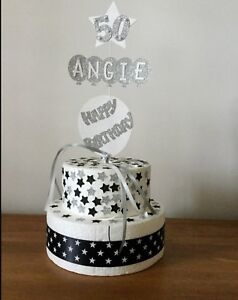 Cake Topper Decoration Personalised Birthday Balloon And Stars Any Age and Name