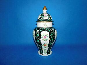 Herend Siang Noir pattern Urn Vase porcelain
