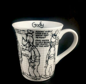 Walt Disney Mickey 90 Years Sketchbook Ceramic Goofy Mug Coffee Cup New
