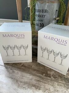 Marquis by Waterford Markham All Purpose Wine Goblet 2 Sets of 4 (8) New in Box