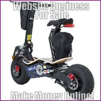 ELECTRIC SCOOTERS Website Earn £63 A SALE FREE Domain FREE Hosting FREE Traffic