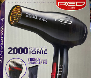 RED by KISS 2000 Ceramic Ionic Hair Blow Dryer BD06U