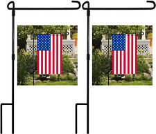 """2 Pack Garden Flag Pole Stand 34.3"""" Tall 17.7"""" Wide - US SHIPPING Newest"""