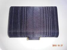 NEW Derek Lam for Estee Lauder Spring 14 Collection Navy Blue Satin Clutch