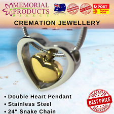 Cremation Jewellery - Double Heart
