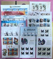 CHINA 2017-1  Mini S/S  x 12 + Booklet Whole Year Rooster FULL stamps 雞