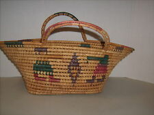 VINTAGE Southwest Large NATIVE MEXICAN AMERICAN COIL BASKET With Handles